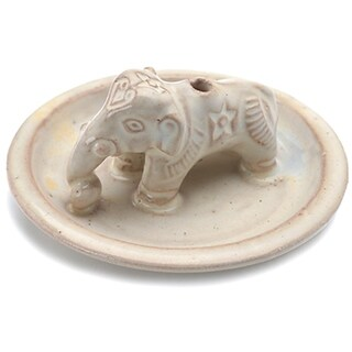 Handcrafted Ceramic Elephant Incense Holder (Nepal)