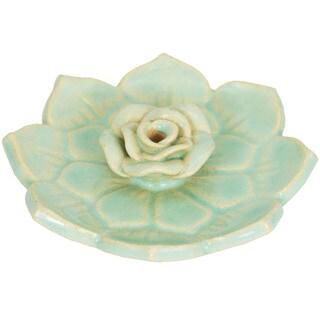 Handcrafted Ceramic Lotus Incense Holder (Nepal)