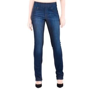 Bluberry Women's Katie Dark Navy Rinse Wash Denim Slim Leg Jeans
