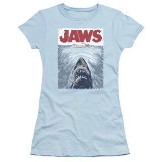 Jaws/Graphic Poster Junior Sheer in Light Blue