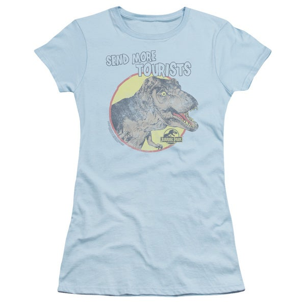 Jurassic Park/More Tourist Junior Sheer in Light Blue