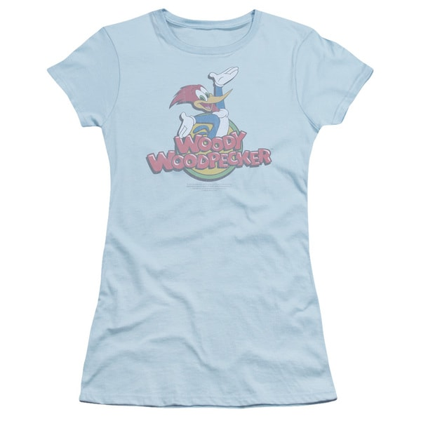 Woody Woodpecker/Retro Fade Junior Sheer in Light Blue