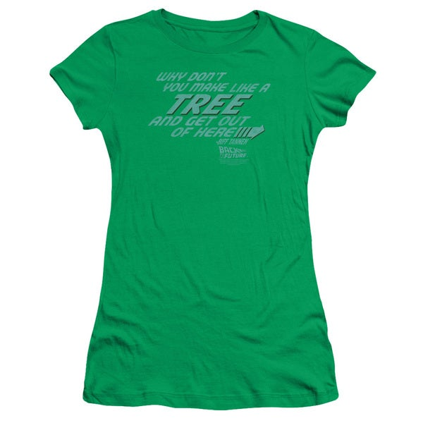 Back To The Future/Make Like A Tree Junior Sheer in Kelly Green