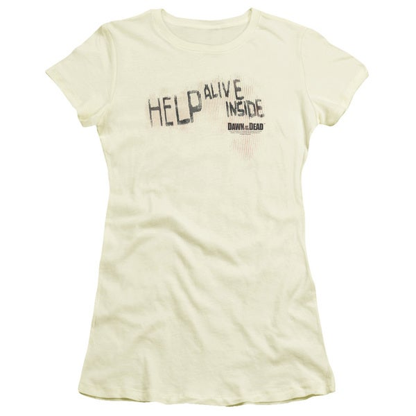 Dawn Of The Dead/Help Alive Inside Junior Sheer in Cream