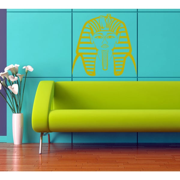 Egyptian Pharaoh Wall Art Sticker Decal Gold