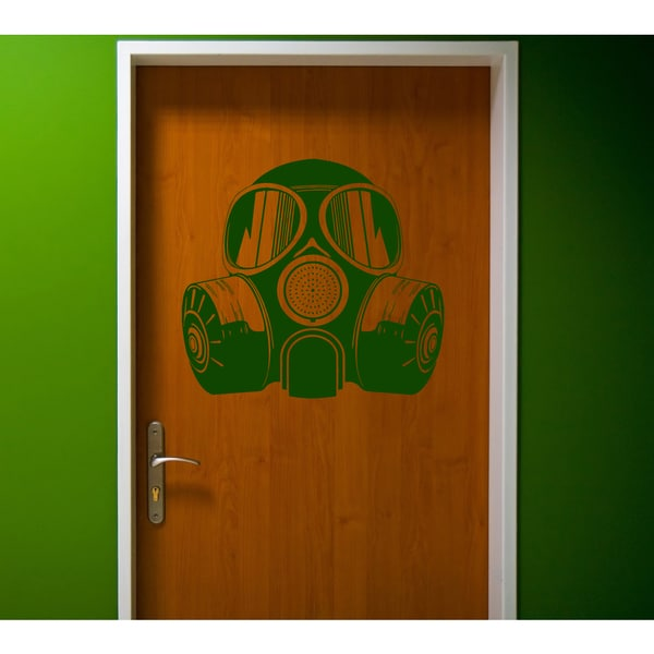 Mask gas attack Wall Art Sticker Decal Green