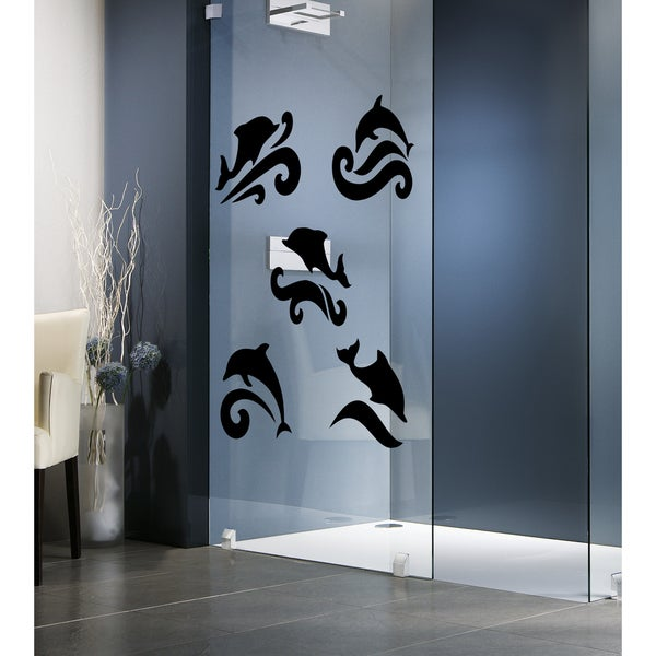 Dolphins in the waves Wall Art Sticker Decal