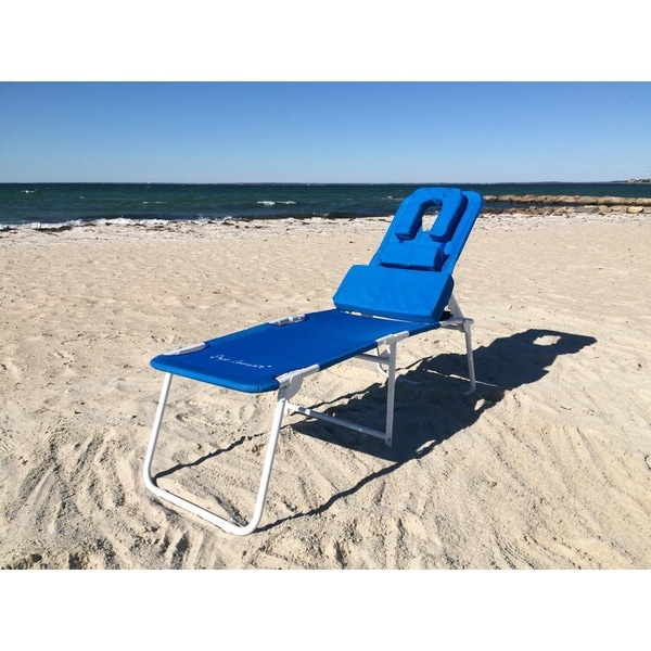 Ergolounger Blue Aluminium/Polyester Wheelchair-accessible Rust-resistant Chaise Lounge