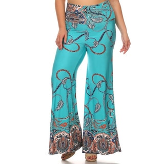 MOA Collection Plus Size Women's Ornate Pants