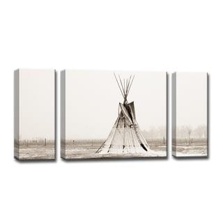 Tipi Snow' 3-Pc Nature Photography Canvas Print Set