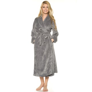 Rhonda Shear Women's Blue, Brown, Grey, Multi, Pink, Purple, Red Polyester Set-in Belt 50-inch Robe