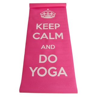 Yoga Mat with Printed Message and Carry Strap
