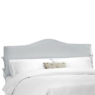 Skyline Furniture Shantung Silver Slipcover Headboard