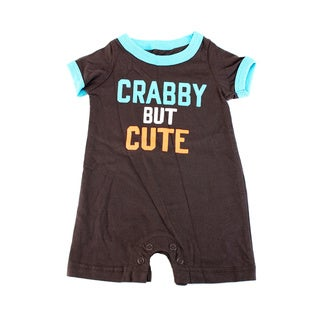 Carter's Boys' Brown Cotton Newborn Outfit