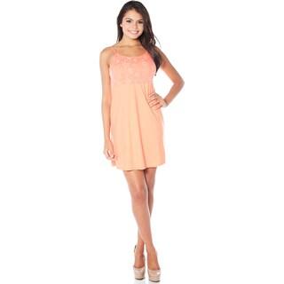 Rhonda Shear Sweet Song Women's White/Red/Orange Nylon/Spandex Butterknit Tank Gown
