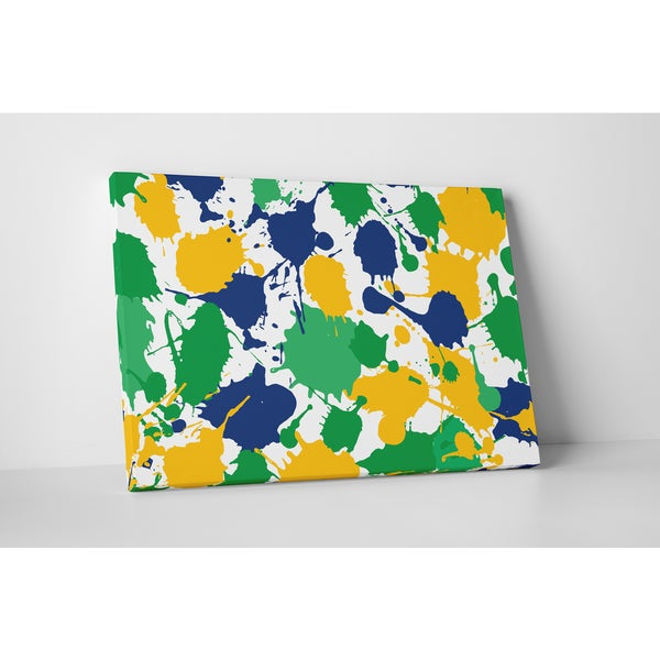 Abstract Art 'Paint Splosh' Gallery Wrapped Canvas Wall Art