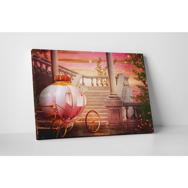 Children's 'Fantasy Carriage' Gallery-wrapped Canvas Wall Art