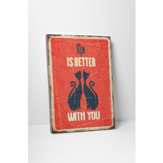 'Life is Better with You' Gallery Wrapped Canvas Wall Art