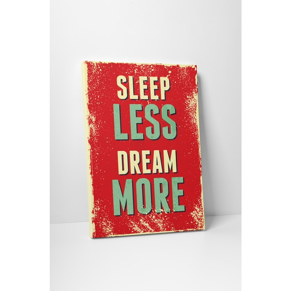 Vintage Metal Signs 'Sleep Less Dream More' Gallery Wrapped Canvas Wall Art