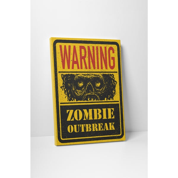 'Zombie Outbreak' Gallery Wrapped Canvas Wall Art