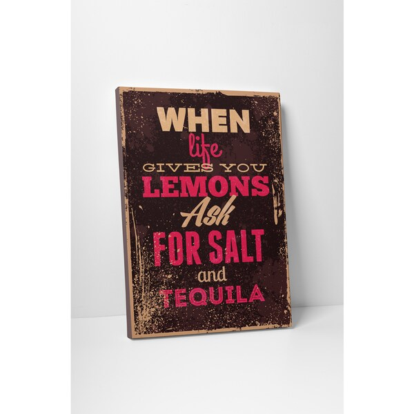 Vintage Metal Signs 'When Life Gives You Lemons' Multicolored Gallery-wrapped Canvas Wall Art