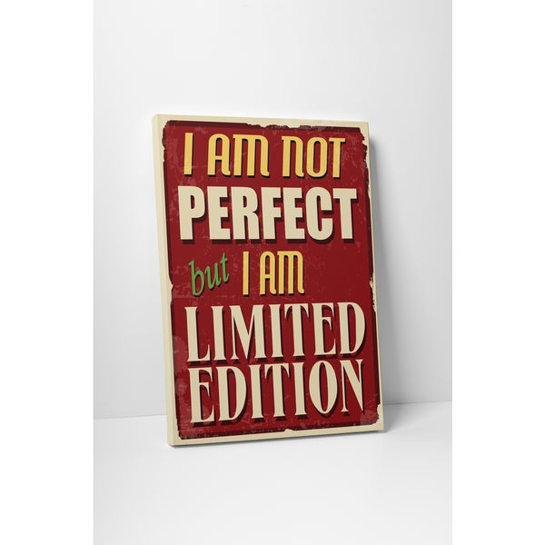 Vintage Metal Signs 'I Am Not Perfect' Gallery Wrapped Canvas Wall Art