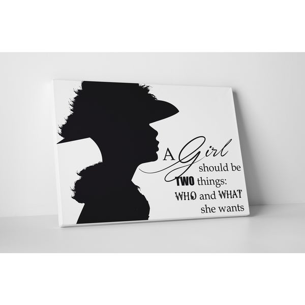 Fashion 'A Girl Should Be Two Things' Gallery-wrapped Canvas Wall Art
