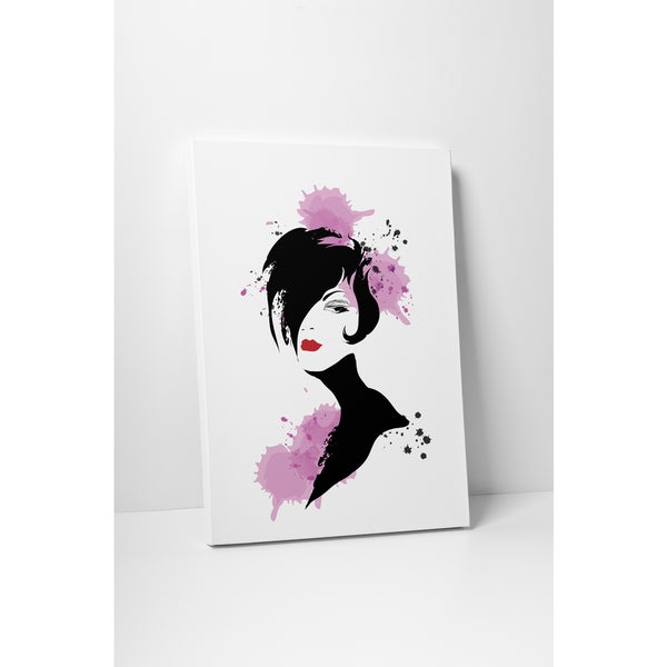 Fashion 'A-line Bob' Gallery Wrapped Canvas Wall Art