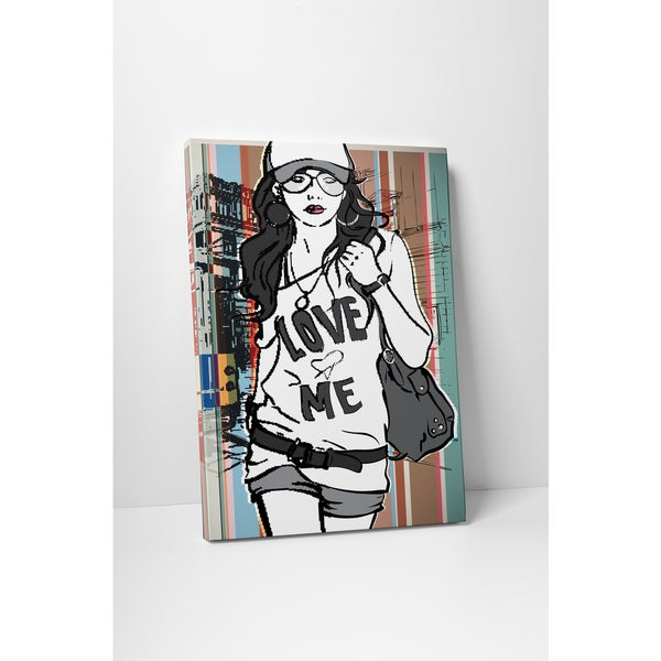 Love Me Tee' Fashion Gallery-wrapped Canvas Wall Art