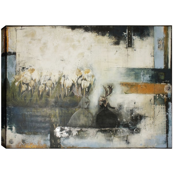 Hobbitholeco., Christina Lovisa, Speaking to the void, Abstract, Hand Applied Gel Brush Finish Canvas