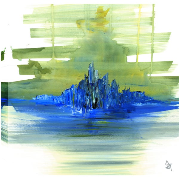 Hobbitholeco. Sanjay Patel, Ocean Abstract, Gel Brush Finish Canvas Wall Art Decor, Gallery Wrapped 24X24 18861965