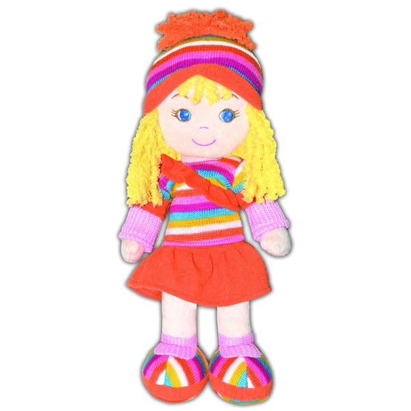 GirlznDollz Cameron Athletic Fun Orange/Yellow Baby Doll