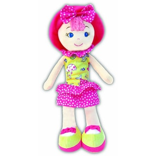 GirlznDollz Leila Polka-dot Cutie Yellow/Pink Fabric Baby Doll