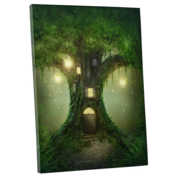 Children's 'Enchanted Treehouse' Gallery Wrapped Canvas Wall Art 18862024