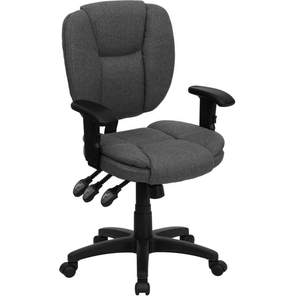 Cornel Grey Fabric Swivel Office Chair