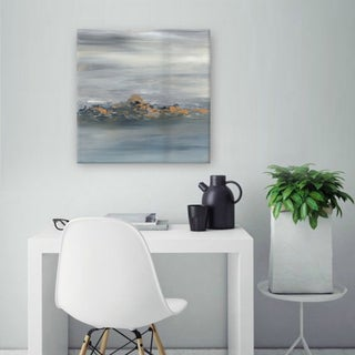 Hobbitholeco. Sanjay Patel, Sky Cloud Abstract, Gel Brush Finish Canvas Wall Art Decor, Gallery Wrapped 24X24 18862134