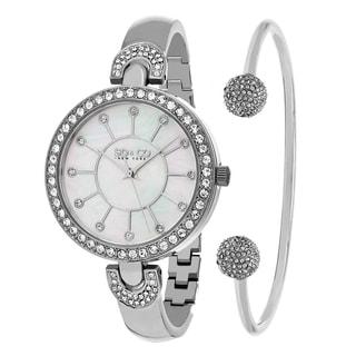 SO&CO New York Women's Madison Quartz Bracelet Watch With Bangle Gift Set