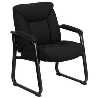 Romm Black Fabric Big and Tall Executive Office Side Chair