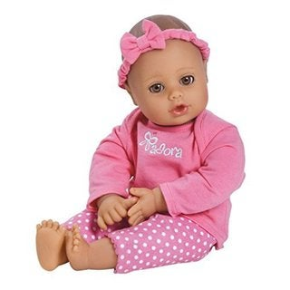 Adora Playtime Baby Pink 13-inch Washable Soft Body Play Doll with Bottle for Children 12 months and up