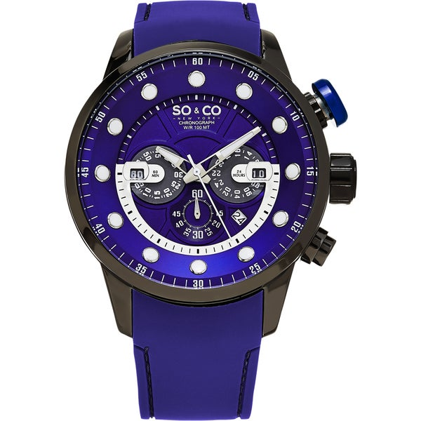 SO&CO New York Men's Rubber Strap Watch