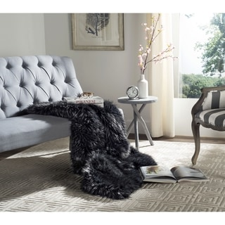 Safavieh Grizzly Midnight Throw (50-Inches x 60-Inches)