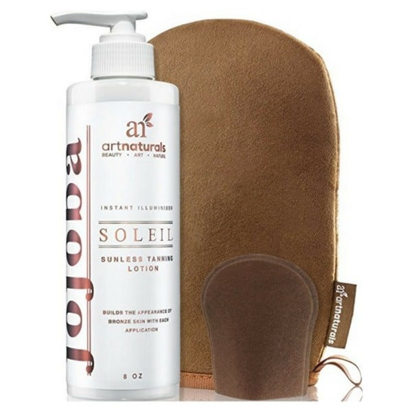 Art Naturals Organic 8-ounce Sunless Tanning Lotion Set With Mitt