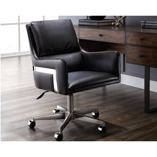 Sunpan Torres Faux Leather and Chrome Office Chair