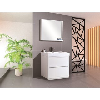 KubeBath Bliss 30-inch Single-sink Bathroom Vanity