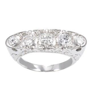 18K White Gold 1 3/4ct TDW 5-stone Estate Ring (H-I, SI1-SI2)