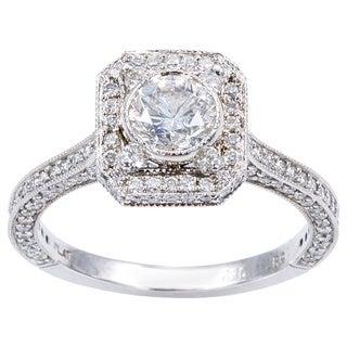 Platinum 2ct TDW Antique Engagement Ring (H-I, I1-I2)