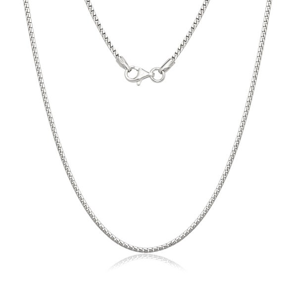 Sterling Silver Figaro Chain Necklace 18862649
