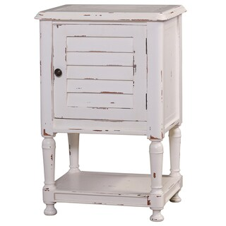 Bramble Co. Orleans Nightstand White Distressed