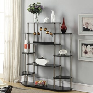 Porch & Den Japonica Black Wood/Steel Wall Unit Bookshelf
