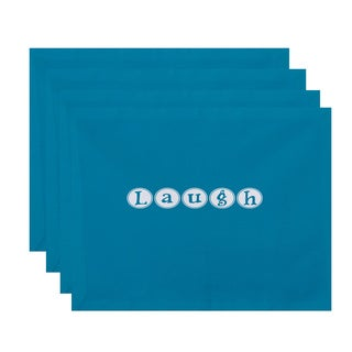18 x 14-inch Laugh Word Print Placemat (Set of 4)